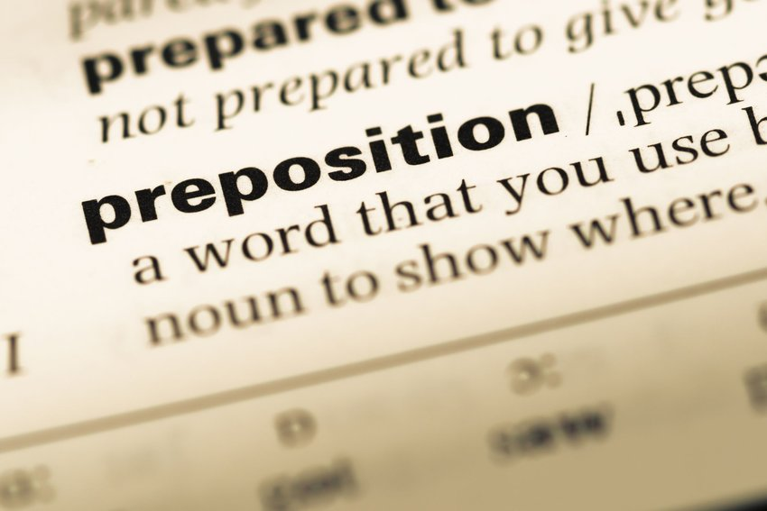 What exactly is a preposition?