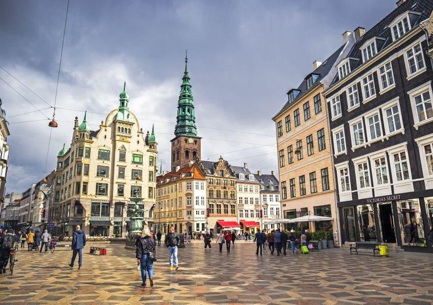 Photo of Strøget Street in Copenhagen