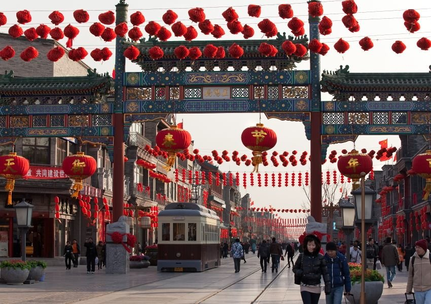 Photo of Qianmen Street in Beijing