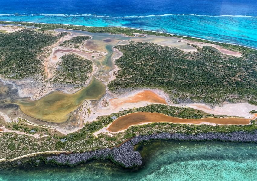 Aerial photo of Anegada