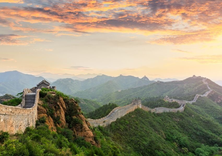 Photo of the Great Wall at sunset