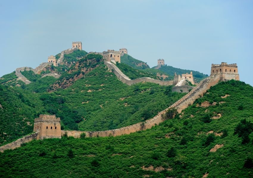Photo of switchbacks of the Great Wall