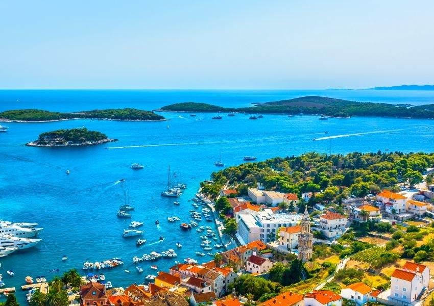 Aerial photo of the island of Hvar