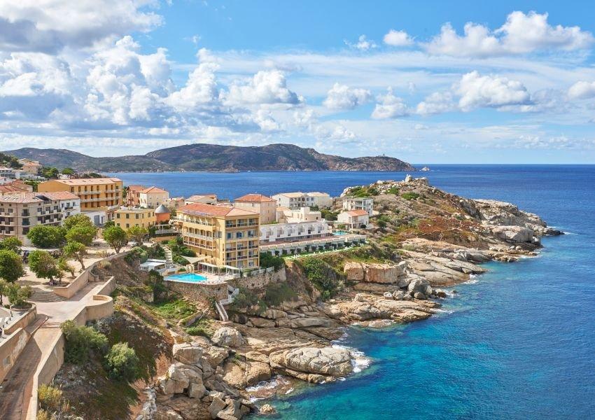 Photo of the coastline of Corsica