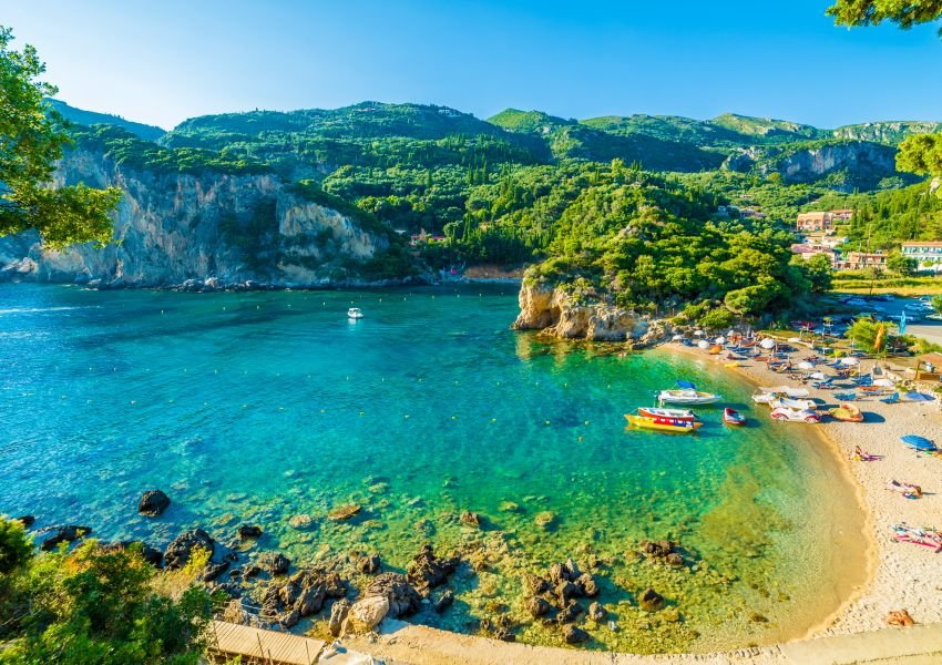 Photo of a beach on Corfu