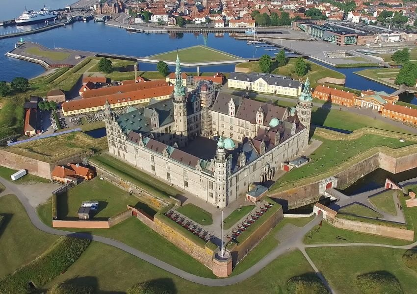 Aerial photo of the Kronborg Castle