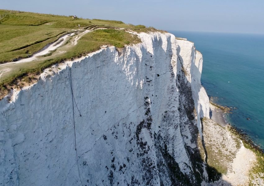 Photo of Shakespeare Cliff and the sea below
