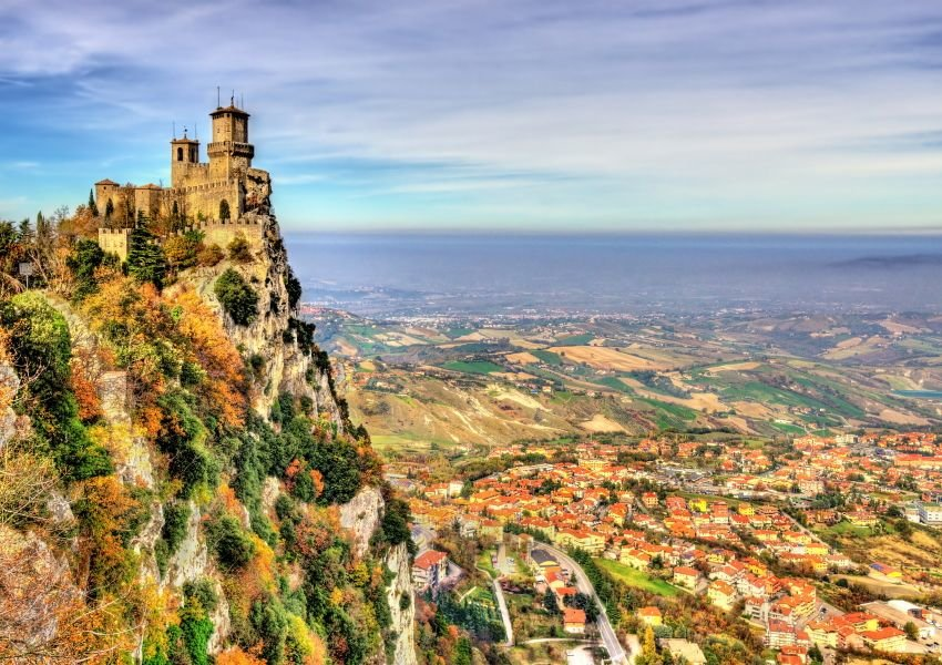 Aerial photo of the City of San Marino