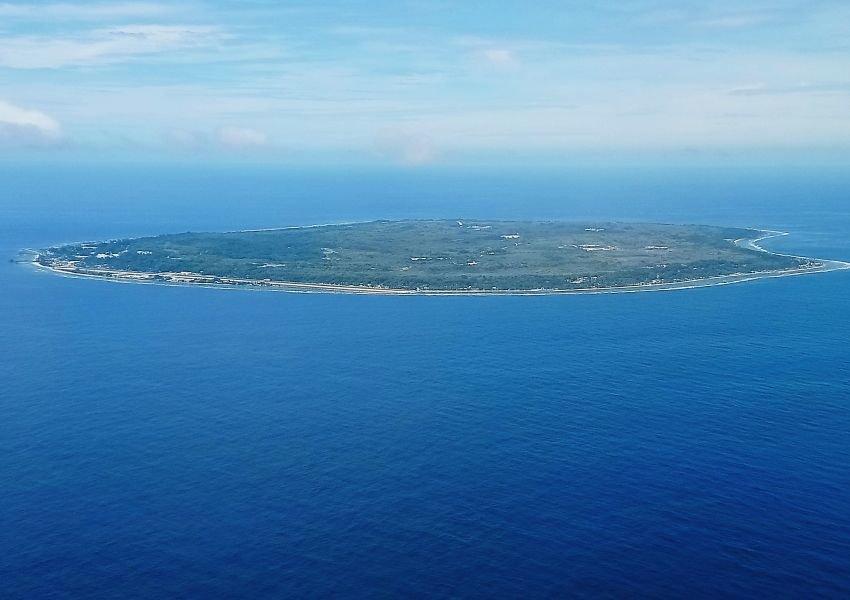 Aerial photo of Nauru