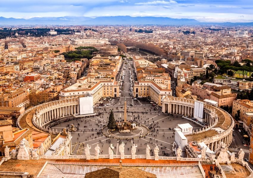 Aerial photo of Vatican City