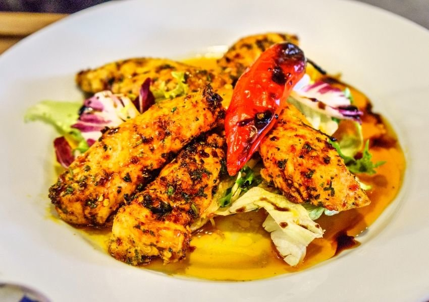 Photo of spicy piri piri chicken dish