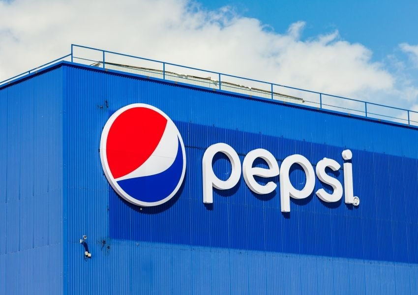 Photo of the Pepsi logo on a building