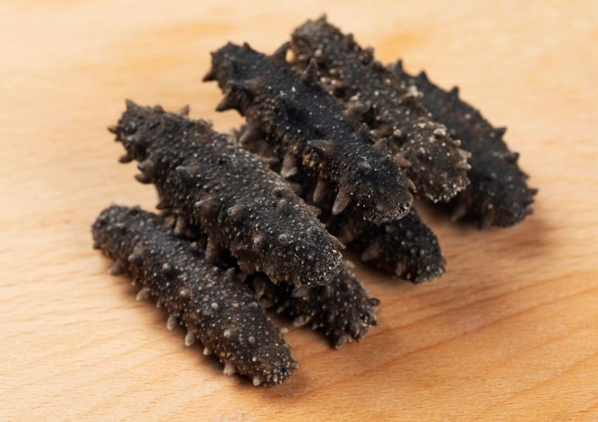 Photo of dried sea cucmbers