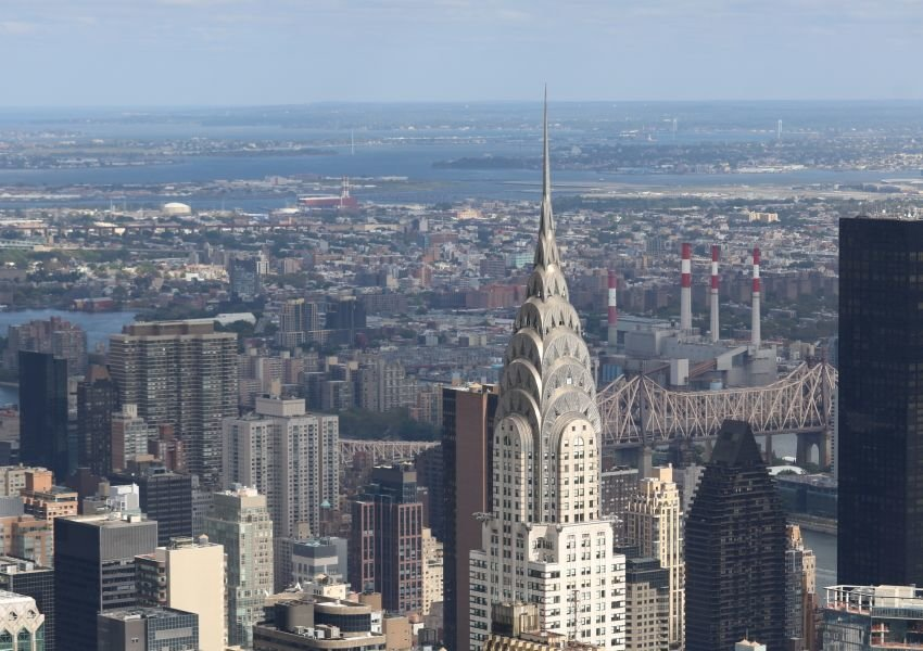Photo of New York City with the Chrysler Building in the foreground