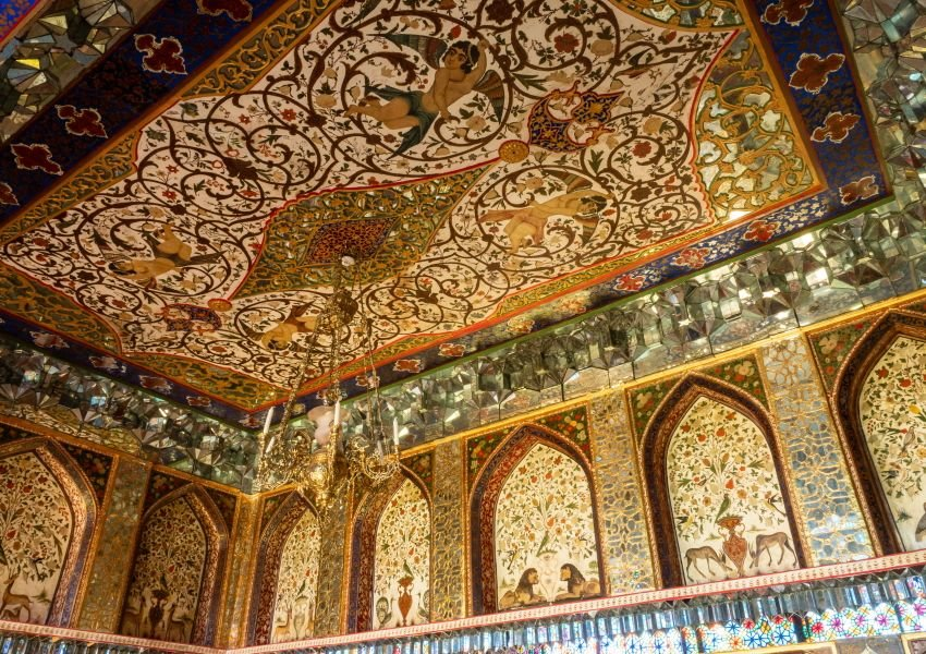Decorated ceiling in Khan's Palace