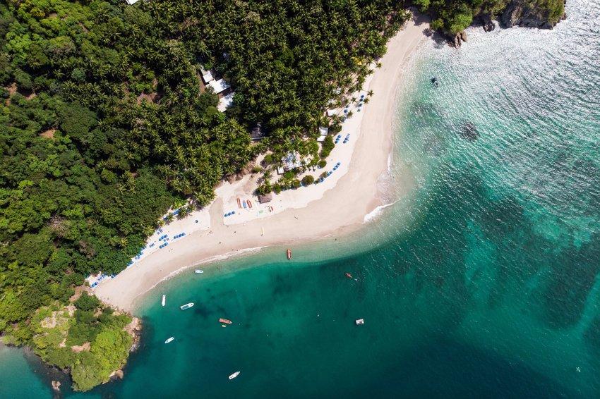 Aerial photo of the Costa Rican coastline