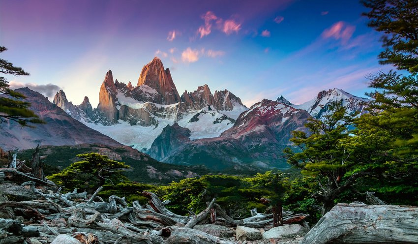 Photo of a mountainous landscape in Argentina
