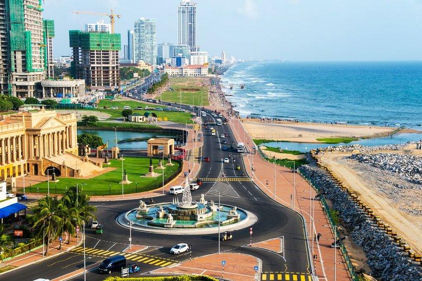 Aerial view of Colombo, Sri Lanka