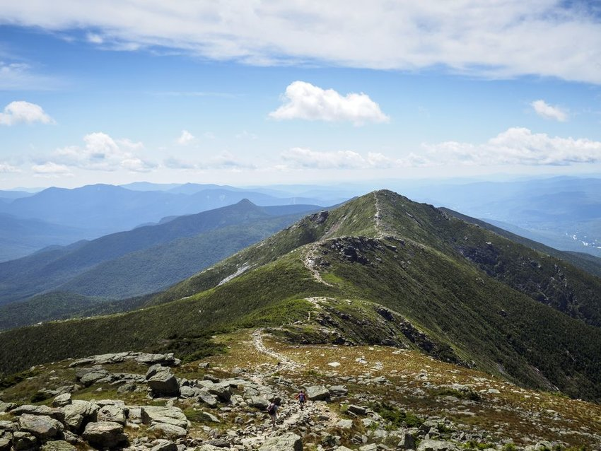 Appalachian Trail on the ridge of the White Mountains, New Hampshire