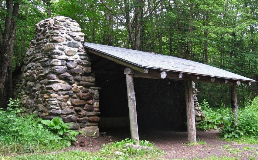Hut along the Appalachian Trail