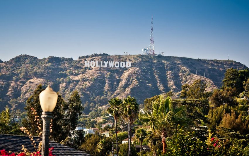 Photo of the Hollywood sign above Los Angeles