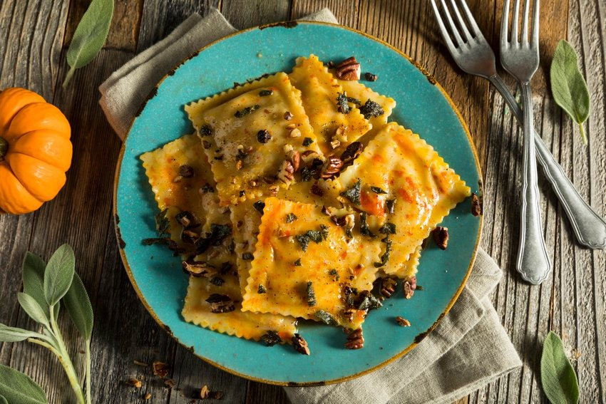 Photo of a plate of ravioli