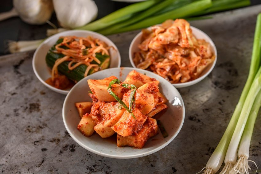 Photo of bowls of kimchi