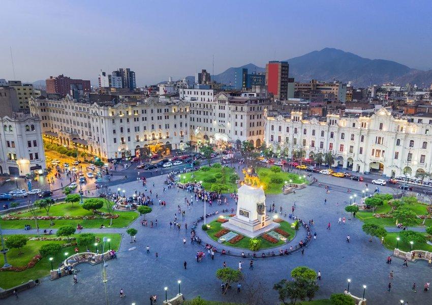 San Martin Square, in Lima, Peru