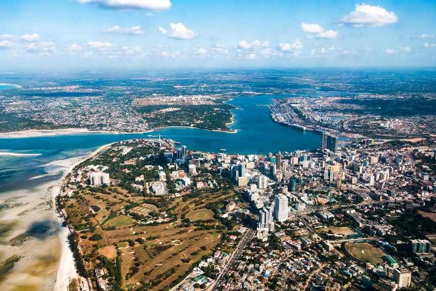 Dar es Salaam, Tanzania photographed from above