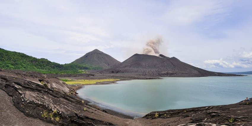 Photo of volcanos on New Britain island