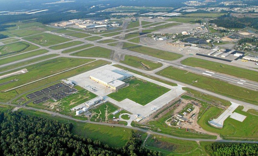 Aerial view of Savannah-Hilton Head airport