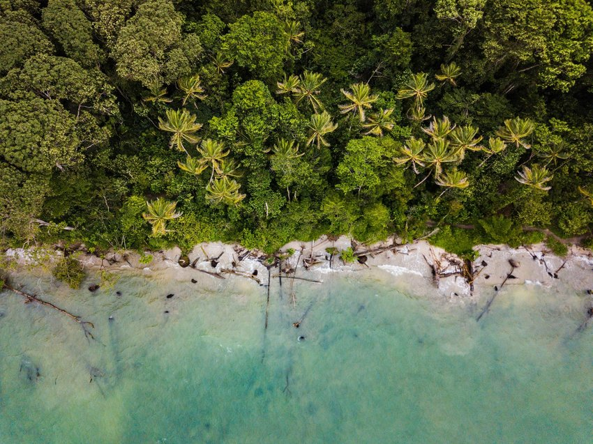 Aerial view of Costa Rican beach