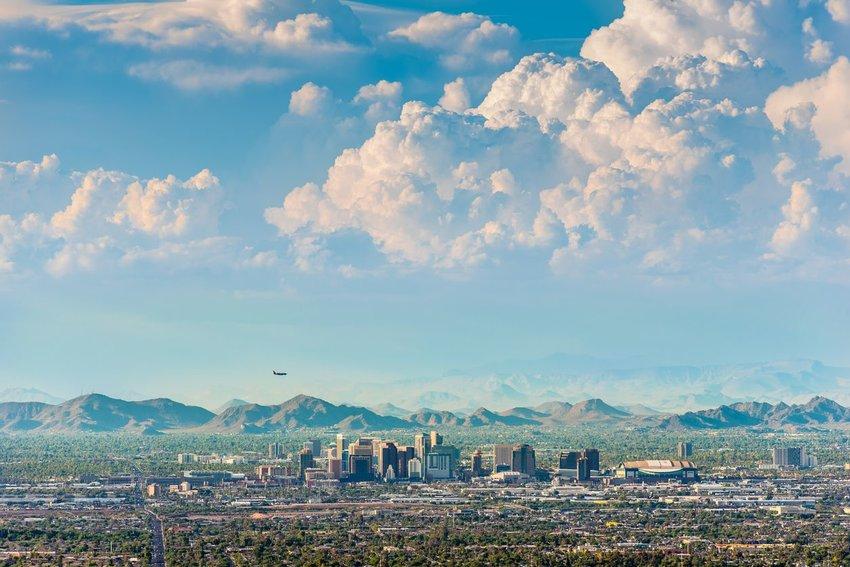 Aerial view of Pheonix, Arizona
