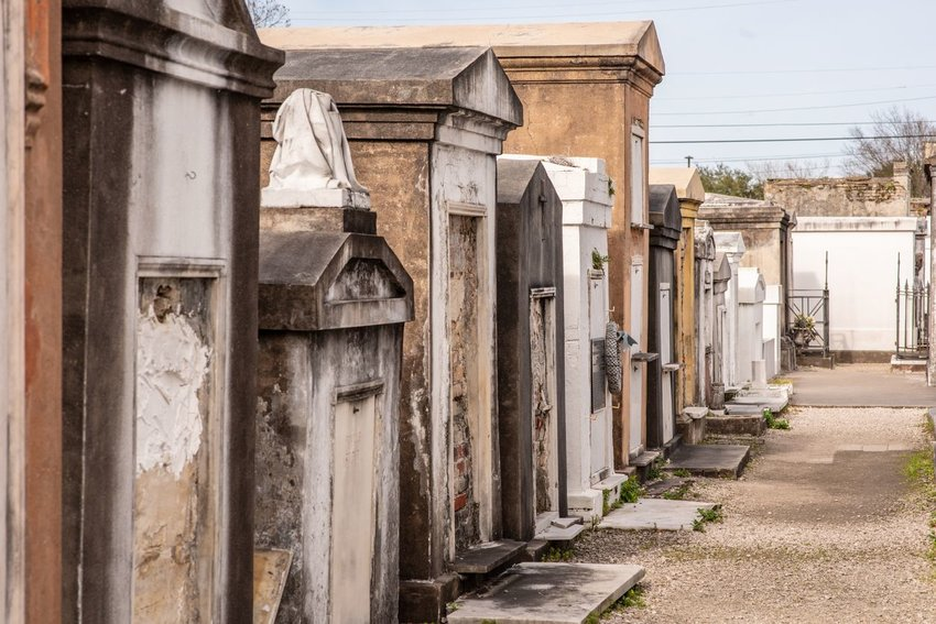 Above-ground graves in the St. Louis Cemetery Number 1