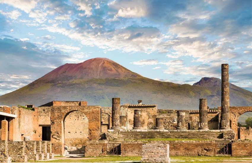 Ruins of Pompeii near Naples, Italy