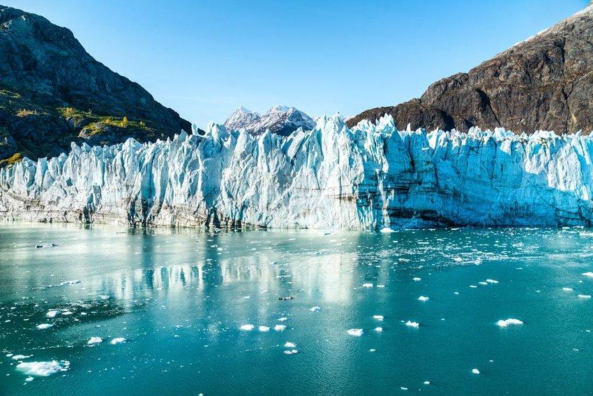 Johns Hopkins Glacier and Mount Fairweather Range mountains
