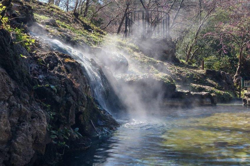 Waterfall in Hot Springs National Park