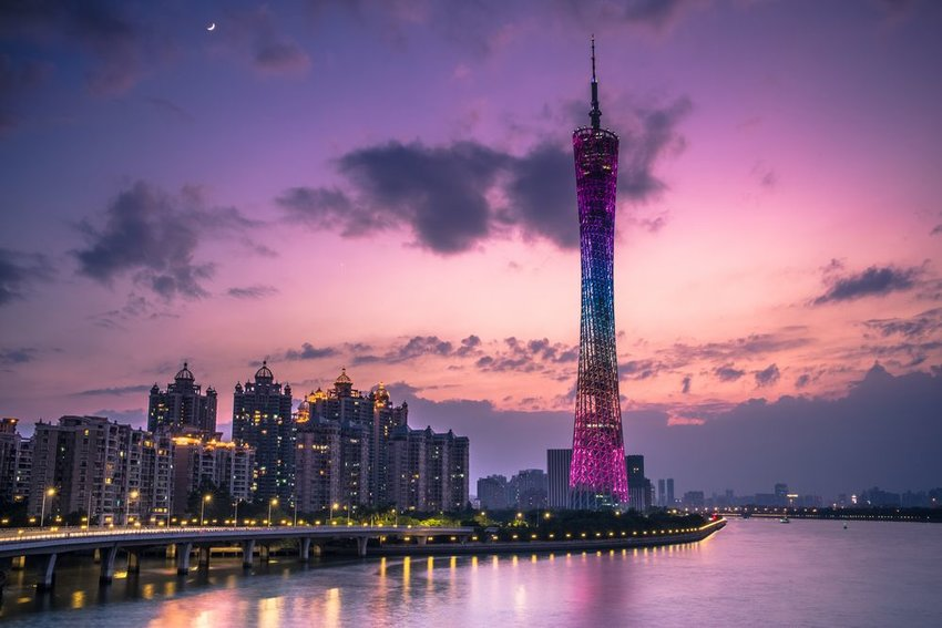 Canton Tower at sunset