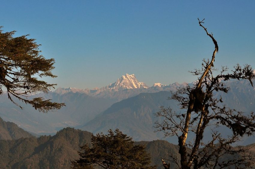 Gangkhar Puensum Himalaya Range view from Dochula Chorten