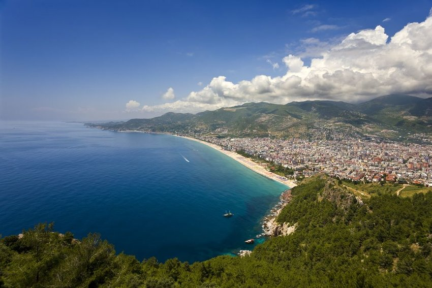 Aerial view of the coast of Turkey