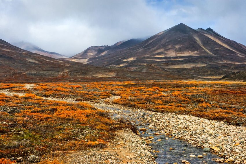 Alpine tundra in Russia