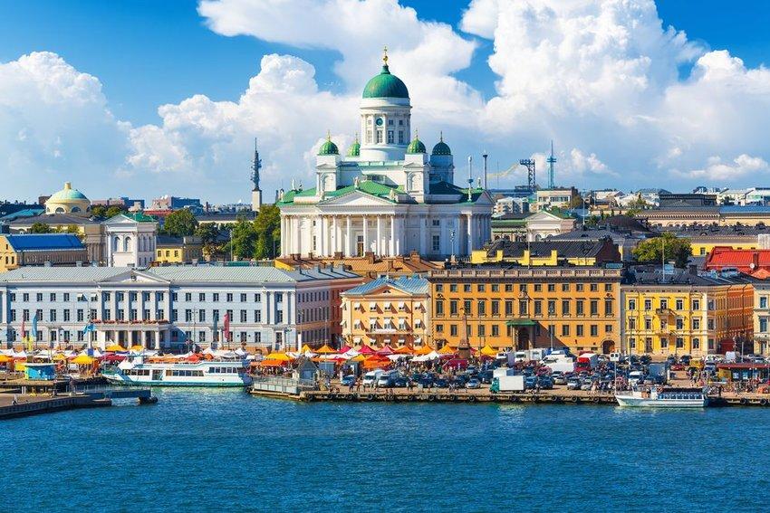 Market Square in Helsinki, Finland