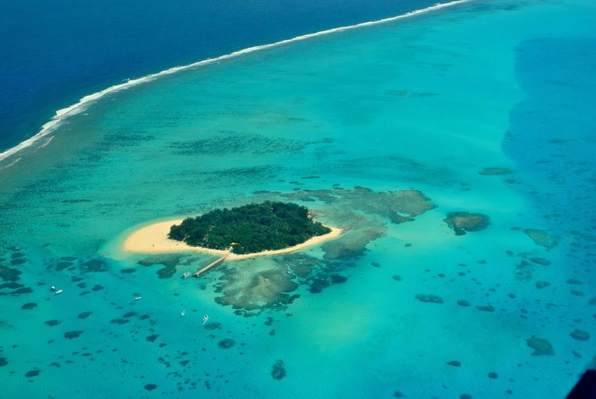 Saipan Managaha island surrounded by clear blue waters