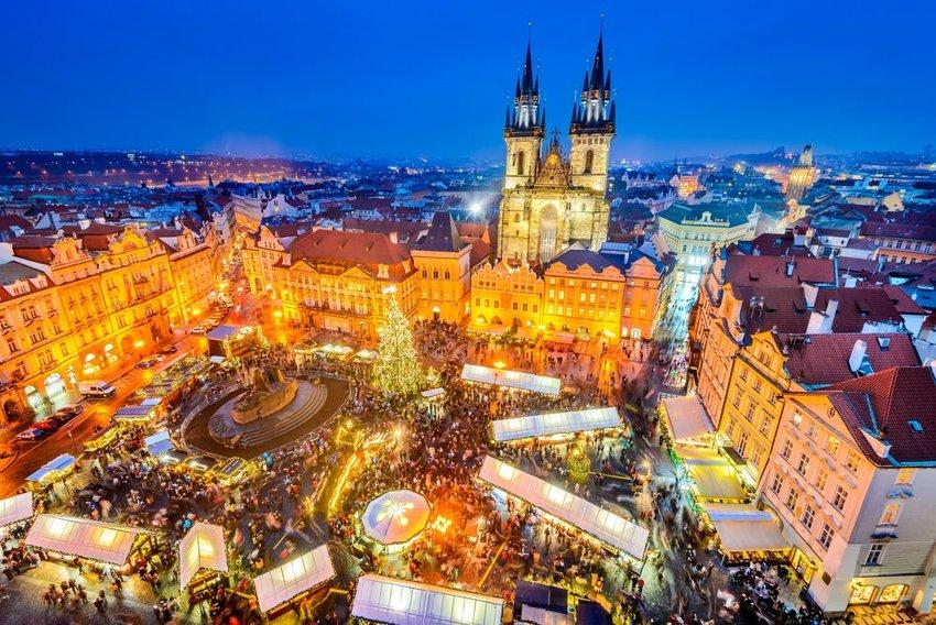 Christmas Market in Stare Mesto old square