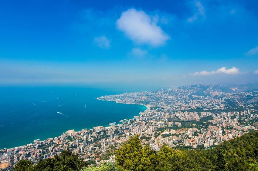 Aerial view of Lebanon coast