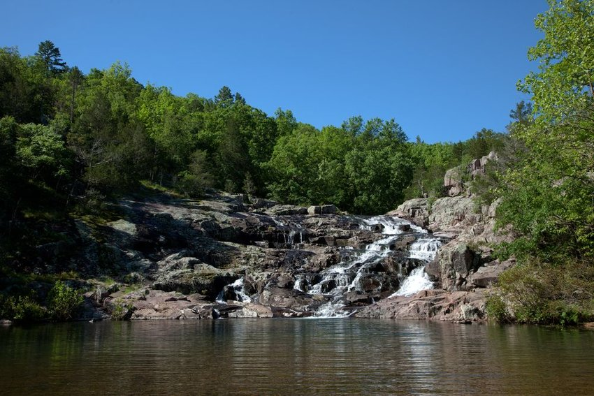 Rocky Falls of the Ozark National Scenic Riverways in Missouri