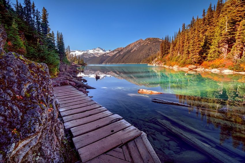Colorful landscape and waters of the Gates of the Arctic National Park, Alaska