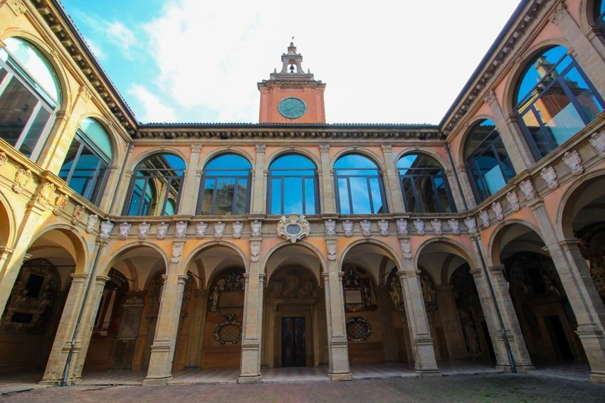 Historic location of University of Bologna architecture in Bologna, Italy