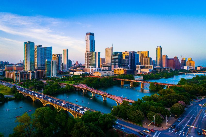 Aerial view of Austin