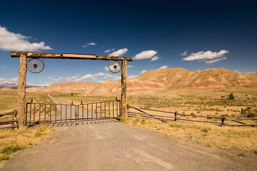 Entrance to a ranch in the west